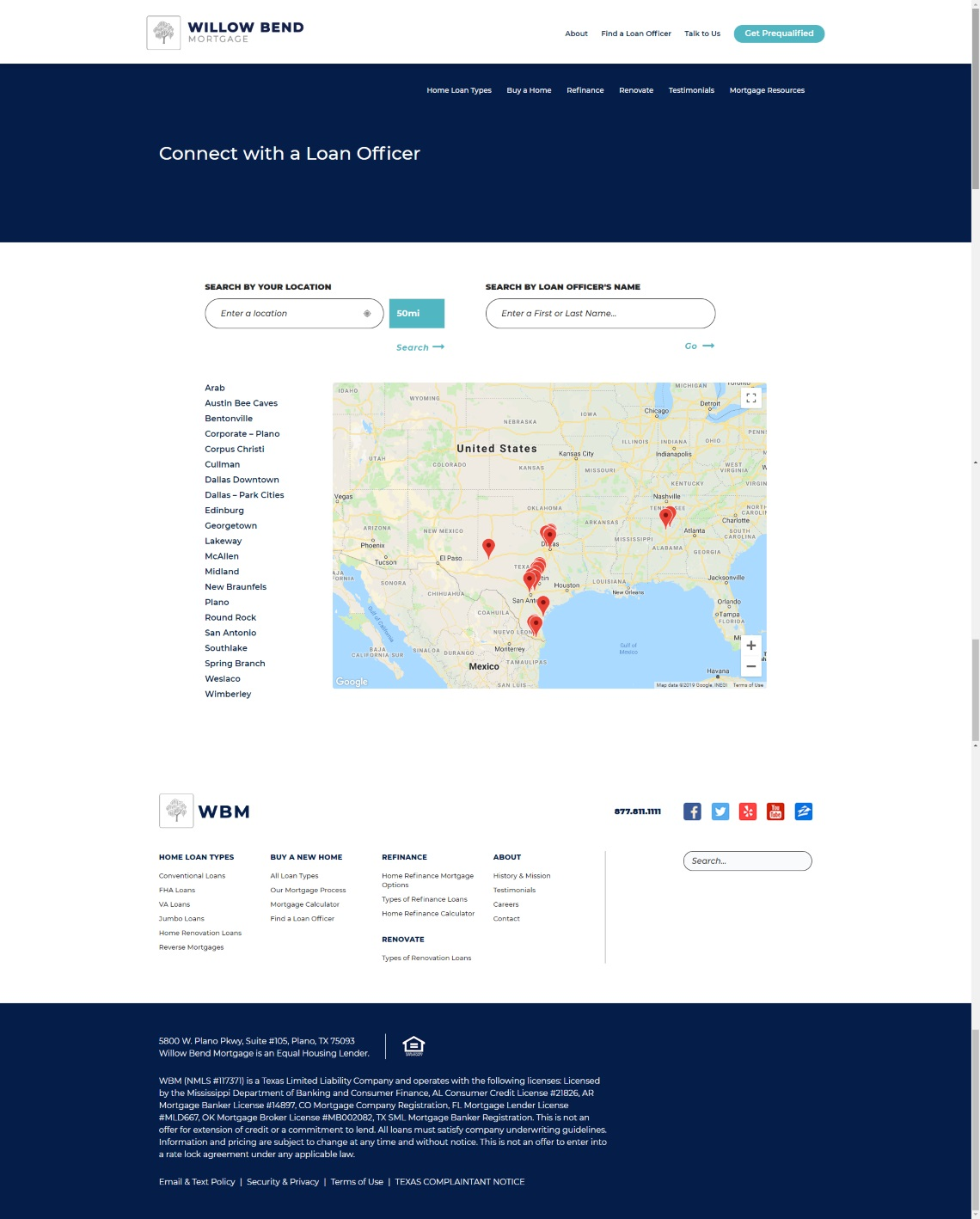 Willow Bend Mortgage Screenshot